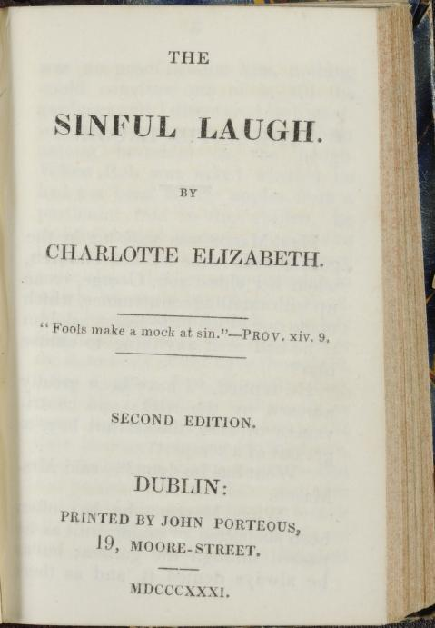 1790-1846 Charlotte Elizabeth - The sinful laugh