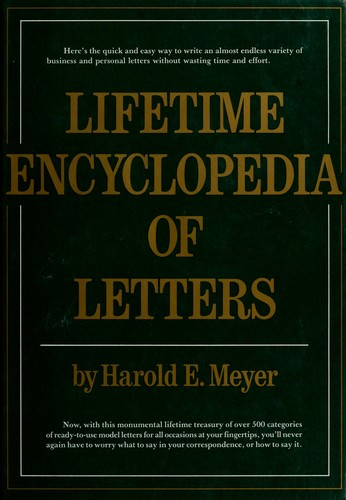 Download Lifetime encyclopedia of letters