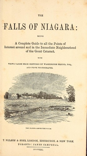 The falls of Niagara by Washington F. Friend