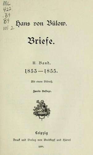 Briefe und Schriften.