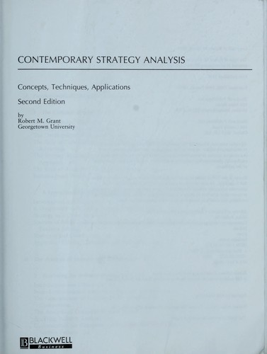 Download Contemporary strategy analysis
