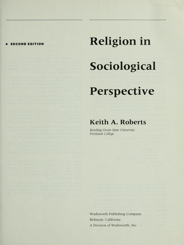 Download Religion in sociological perspective