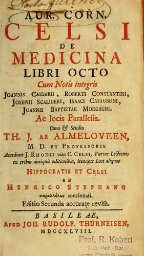 Download Aur. Corn. Celsi De medicina libri octo