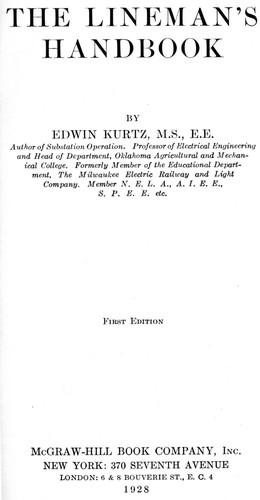 The Lineman's Handbook