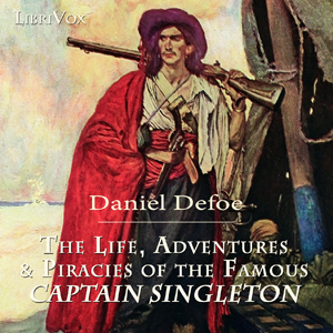 Life- Adventures & Piracies of Captain Singleton(3332) by Daniel Defoe audiobook cover art image on Bookamo