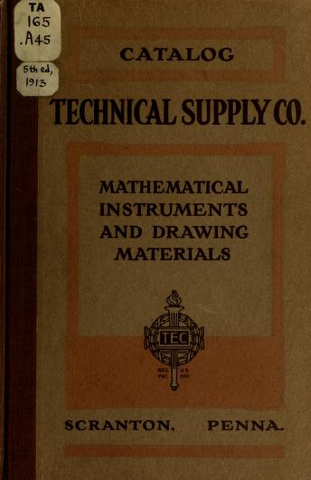 Complete catalog and price list by Technical supply co., Scranton. [from old catalog]