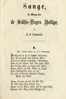 Sange, til Brug for de Sidste-Dages Hellige (1859)
