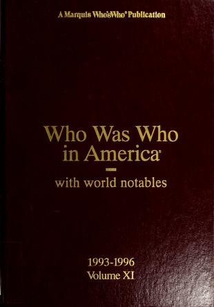 Cover of: Who was who in America |