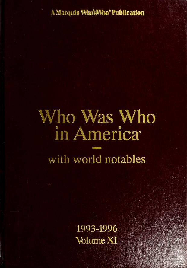 Who was who in America by