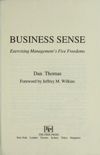 Business Sense by Dan Thomas