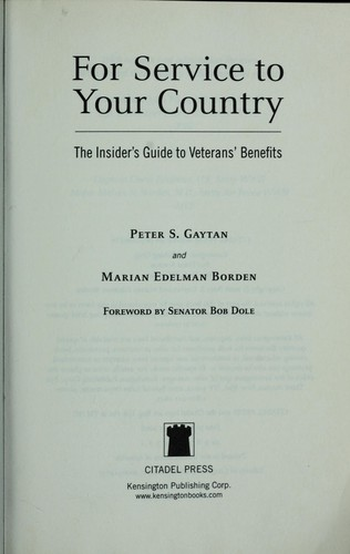 For service to your country by Peter S. Gaytan