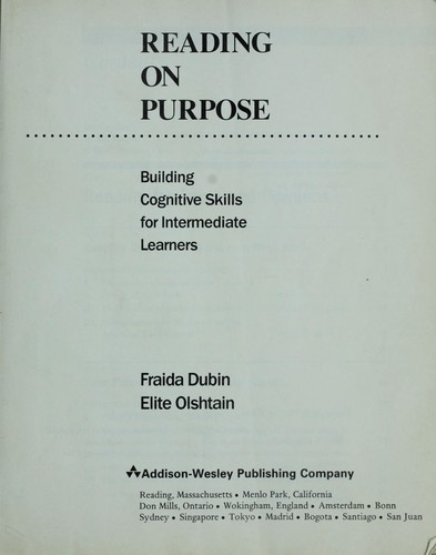 Reading on purpose by Fraida Dubin