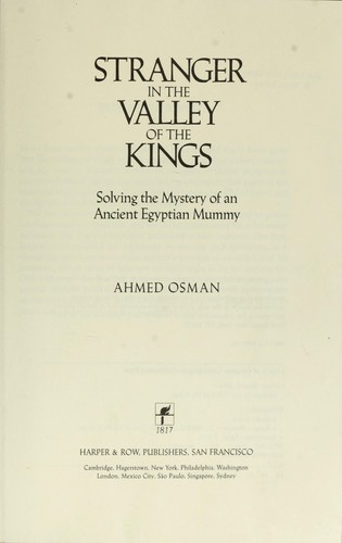 Stranger in the Valley of the Kings by Ahmed Osman