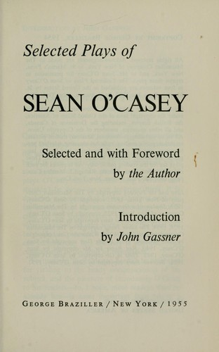 Selected plays of Sean O'Casey by Sean O'Casey