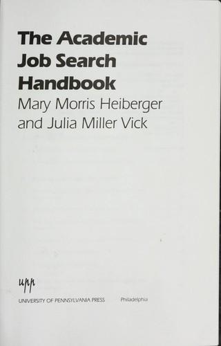 The academic job search handbook