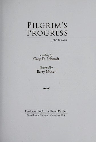 Pilgrim's Progress by Schmidt, Gary D.